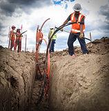 Underground Distribution Powerline Installation