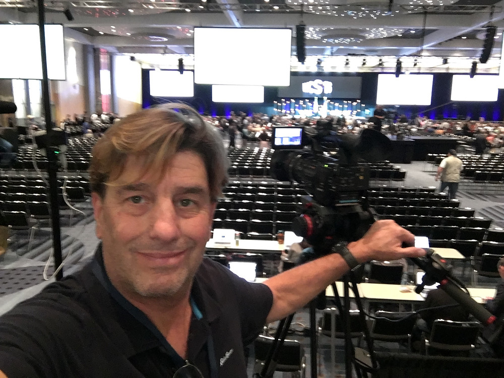 Sandy Santucci on location at the Western Conservative Summit