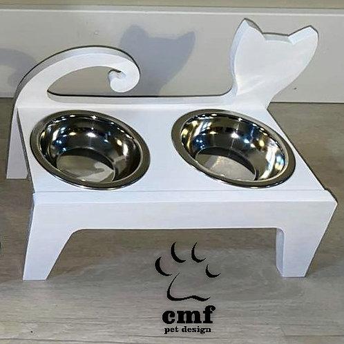 Comedouro Elevado para Gatos - CMF Pet Design
