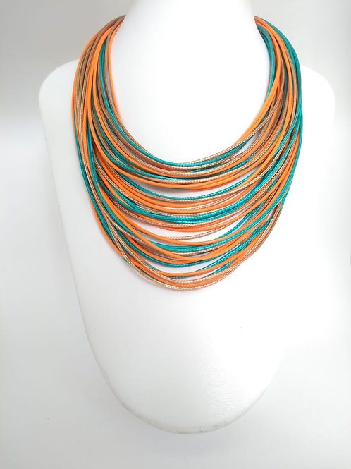 Colar cordas colorido - Bah é de ❤️
