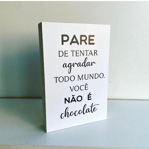 """Quadrinho decorativo """"Chocolate"""" - Colore Arts"""