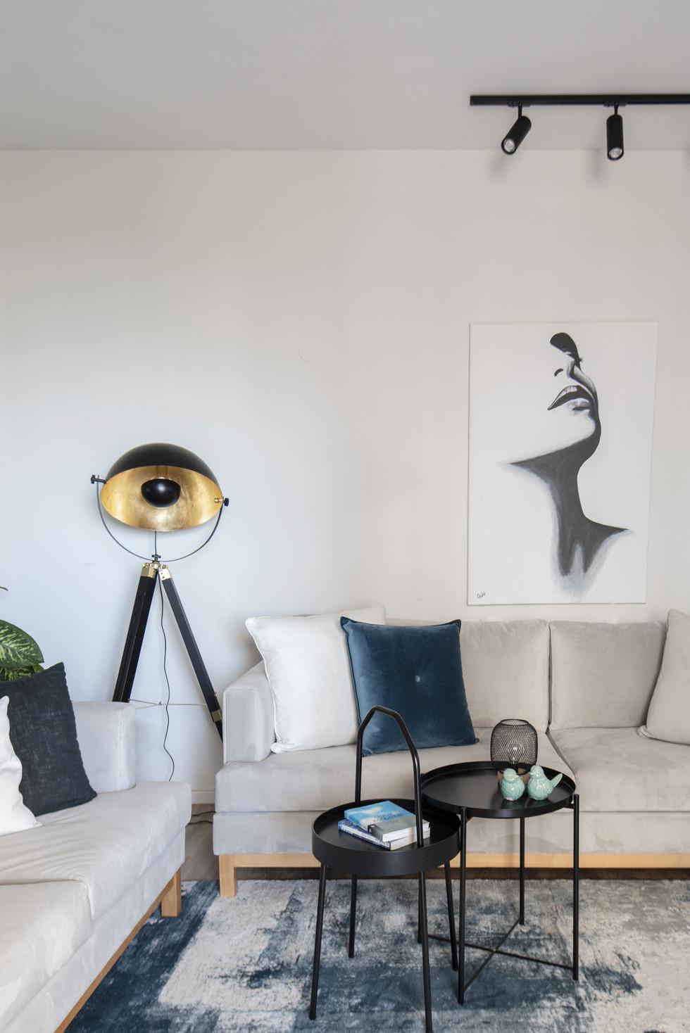 עיצוב קיר בדירה שכורה
