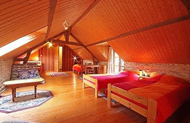 La Ferme (dortoir à l'étage)