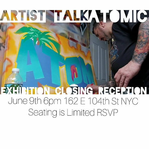 Graffiti Artist talk by ATOM at the NYC Graffiti Art Visitor Center and Events East Harlem New York