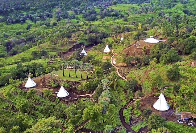East Bali Immersion environment aerial view