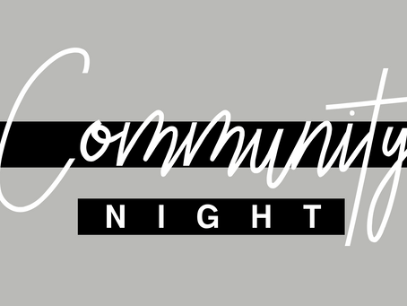 Community Night, September 29