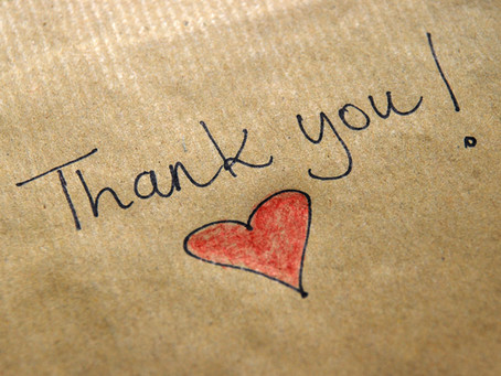 Saying 'Thank You' to God