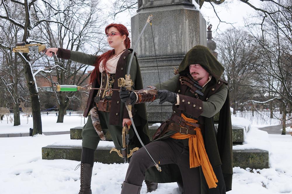 SilwerSteam ambassadors - Steampunk Robin Hood and Maid Marion.