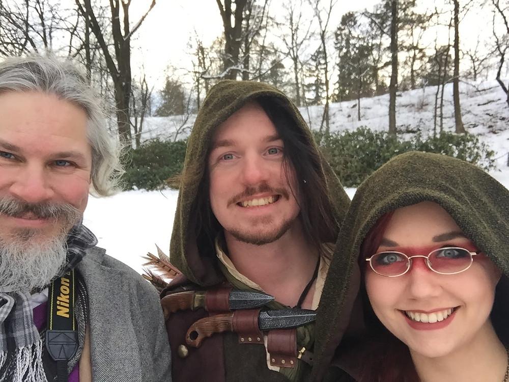 The mandatory Selfie - Nicklas Silwerulv, Robin Larsson and Andrea Ottosson, aka Steampunk Robin Hood Crew...