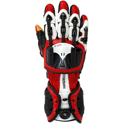 Knox Handroid Mk3 gloves red/white