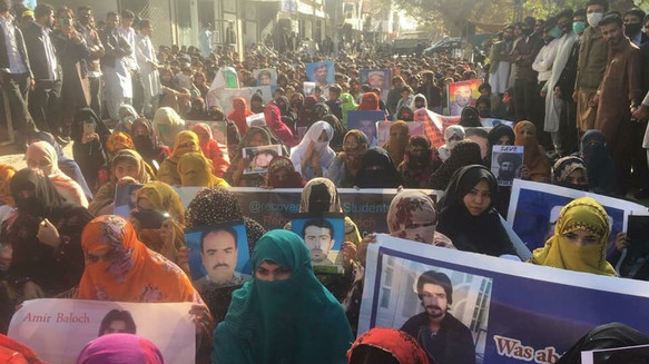 Massive protest in Quetta for the release of Missing Persons