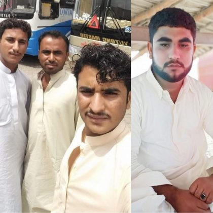 From L to R: Altaf Ayub, Pervaiz Jumma, Bahar Ayub, Imdad Hashim. Photo: BHRO