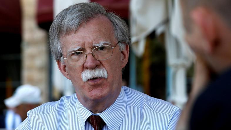 U.S. National Security Advisor John Bolton speaks during an interview with Reuters in Jerusalem. (Reuters)