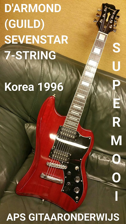 D'ARMOND (GUILD) SEVENSTAR 7-STR CHERRY RED