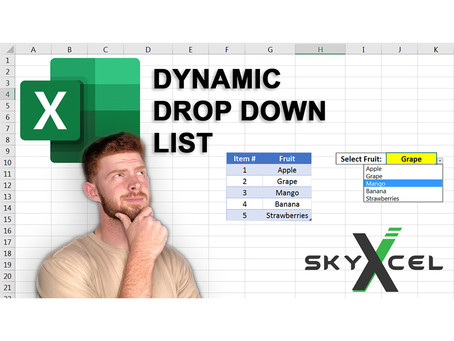 How to Create a Dynamic Drop Down List in Excel