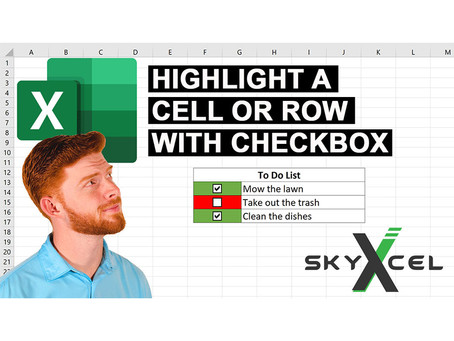 How to Highlight a Cell or Row with a Checkbox in Excel