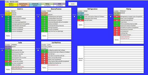 Custom Excel Template Project Management