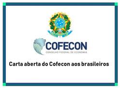 Carta aberta da Cofecon aos brasileiros
