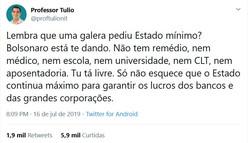 Twitter a verdade na linha do tempo 16/07/2019