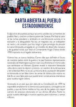 Nicolás Maduro: Carta aberta ao povo dos Estados Unidos