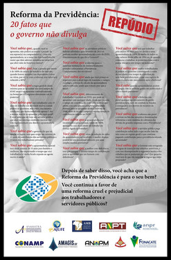20 razões para repudiar a reforma da Previdência.