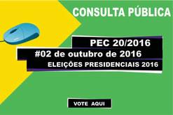 CONSULTA PÚBLICA PARA ELEIÇÕES PRESIDENCIAIS EM 2016.