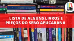 Lista de alguns livros e preços do Sebo Apucarana