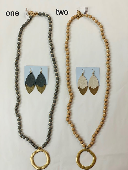 Necklace and earring combo