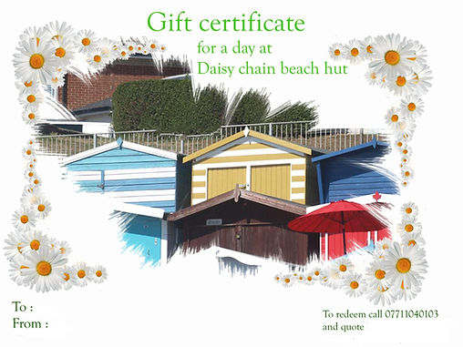 This is a picture of our gift certificate