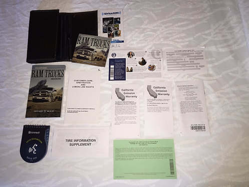 2015 Dodge Ram Trucks Owner Manuals, Case and DVD