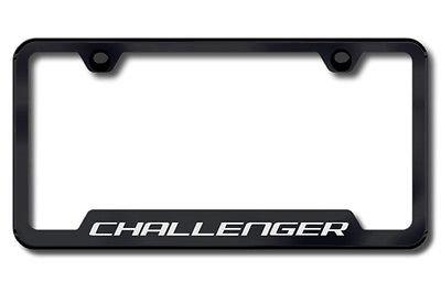 AG Challenger Black Stainless License Plate Frame