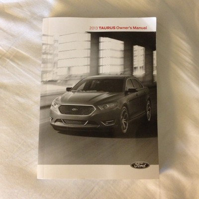 2013 Ford Taurus Owners Manual Guide Book