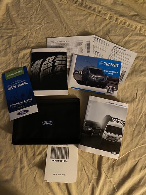 2019 Ford Transit Owners Manual Portfolio KK3J19G219AC
