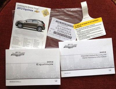 2012 Equinox US Portfolio (22862214) Owner Manuals