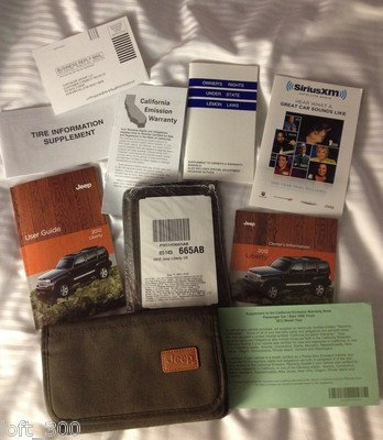 2012 Jeep Liberty Owners Manuals, Cloth Case & DVD