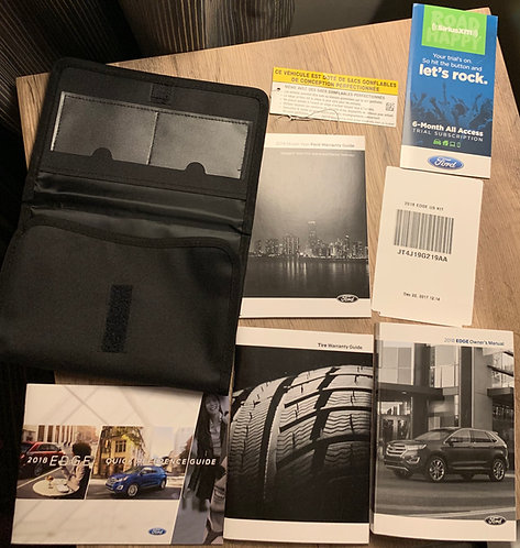 2018 Ford Edge US Owners Manuals Kit JT4J19G219AA with Case