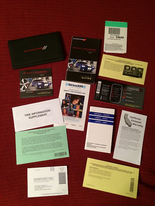2012 Dodge Challenger Owners Manuals Kit & DVD