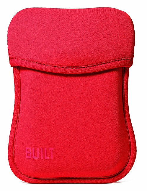 Built Hoodie Portable Hard Drive Case Red Neoprene