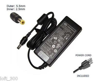65w AC Adapter For MSI S250 S260 S262 S270 S271 S3