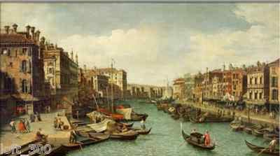 Canaletto (Grand Canal Near Rtialto Bridge Venice)