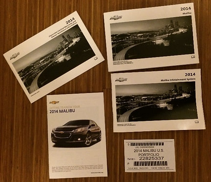 2014 GM Chevy Malibu Owners Manuals (22825337)