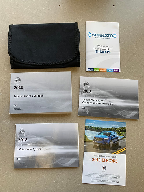 2018 Buick Encore Owners Manual Portfolio with Black Velcro Case