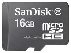 AT&T SanDisk 16GB microSDHC Memory Card with Adapt