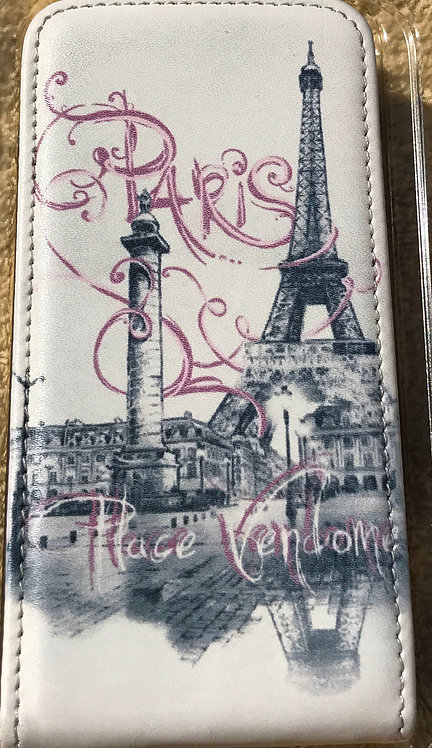 Leather iPhone Case for Art, Paris Themed (4 or 5)