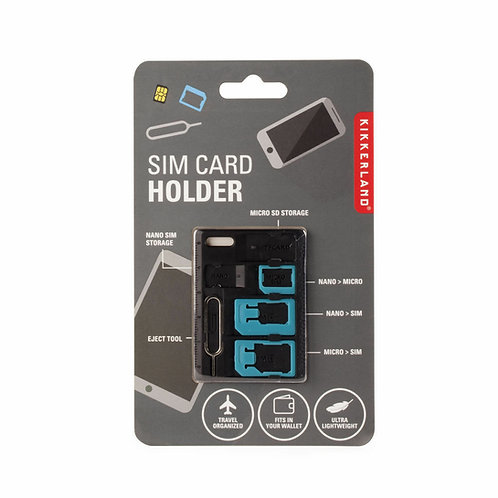 Kikkerland SIM Card Holder and Adapter for International Travel Phone Accessory