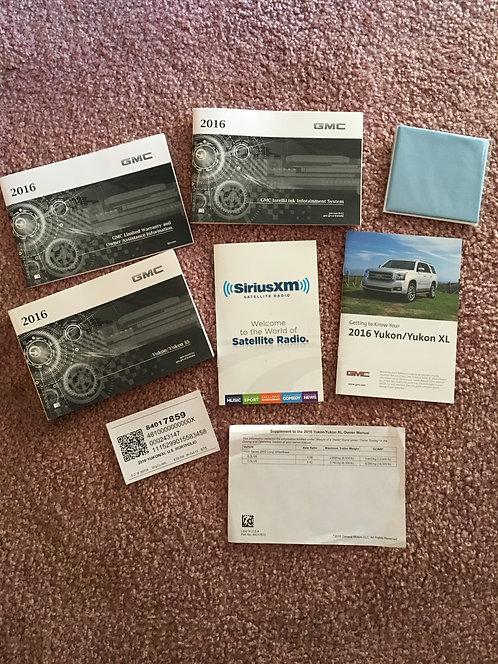 2016 GMC Yukon XL US Owner Manuals 84017859