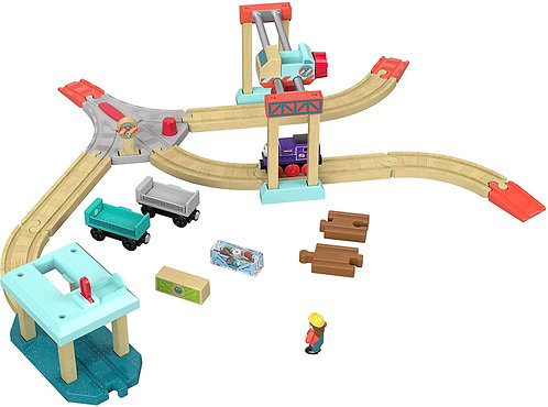 Thomas and Friends Wooden Railway Wood Lift and Load Cargo Set