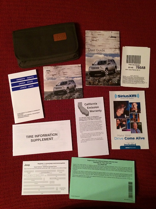 2014 Jeep Patriot Owner Manuals, Cloth Case & DVD