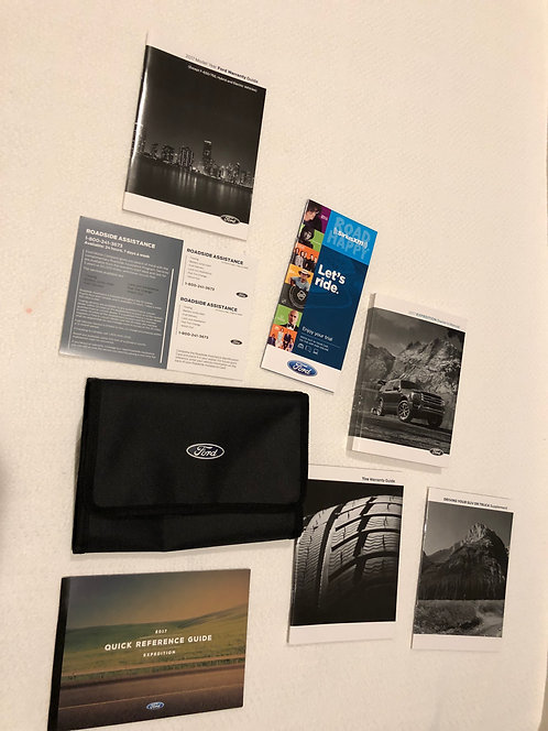 2017 Ford Expedition Owner Manuals, Cloth Case