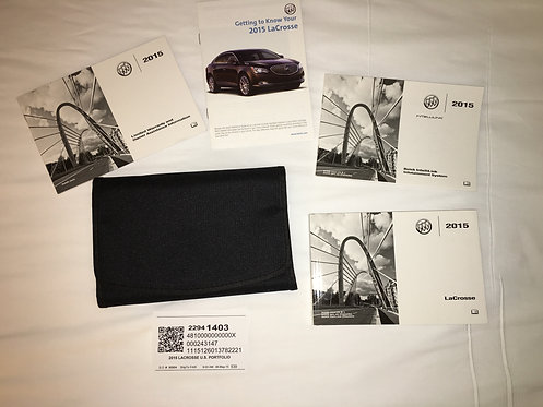 2015 GM Buick LaCrosse US Owner Manuals 22941403